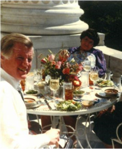 Ted Kennedy and Rosie at lunch